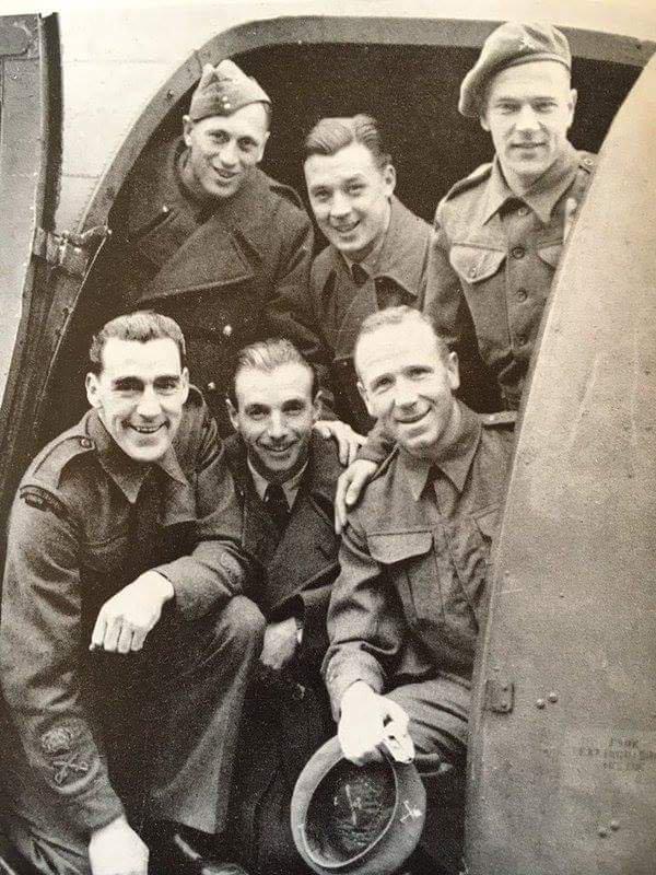 World War II: Sir Matt Busby, Frank Swift, Stanley Matthews and Joe Mercer. @UtdBeforeFergie