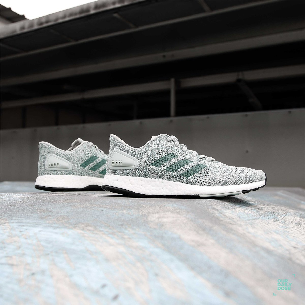 b75d4479aba6d Adidas Pure Boost DPR is available at ODD Senayan City and Grand Indonesia.  Grab yours now! . Ash Silver Raw Green Aero Green Size UK 5-7.5 IDR  2