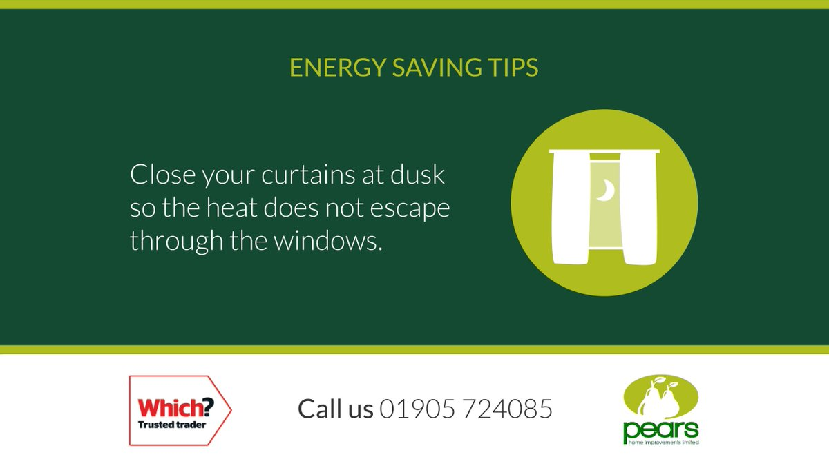Here is this week's 'Energy Saving Tip' which we hope you'll find useful.  If you need any help with making your home more energy efficient please give us a call.  #worcestershirehour #energysaving