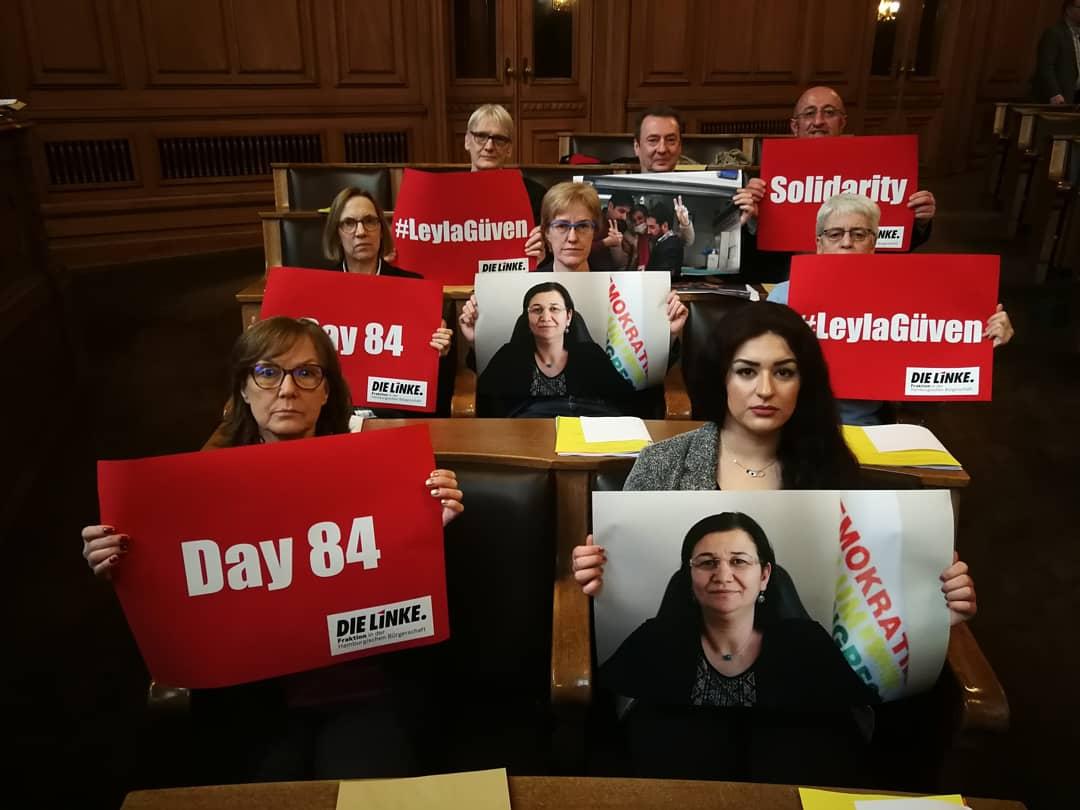 Unsere Kollegin #LeylaGüven, Abgeordnete unserer Schwesterpartei #HDP, befindet sich seit 84 Tagen im unbefristeten Hungerstreik.  Wir teilen die Forderung von Leyla Güven nach der sofortigen Beendigung der Isolationshaft von #AbdullahÖcalan.