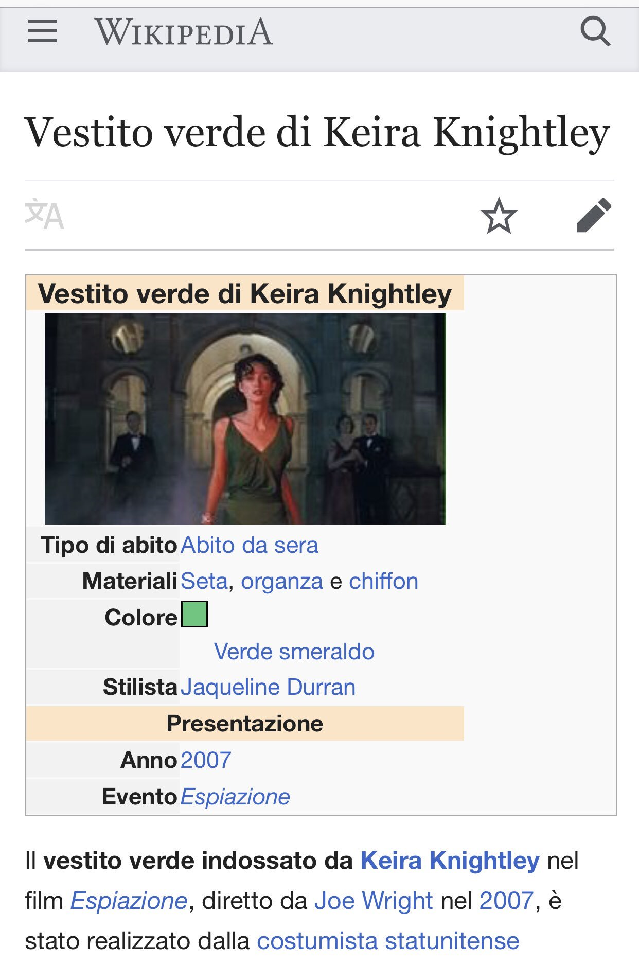 Abiti Da Sera Wikipedia.𝒱𝒶𝓁𝓈 On Twitter La Versione Italiana Di Wikipedia Vanta Un