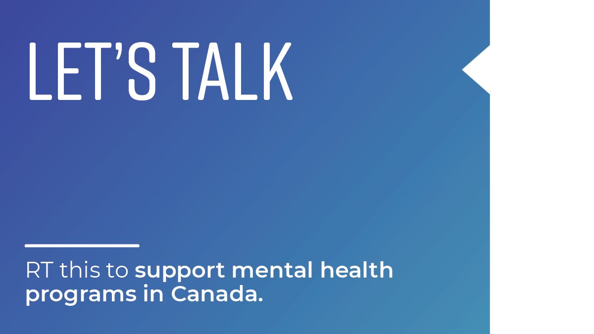 Every #BellLetsTalk Day, Canadians come together to speak out, break down stigma and talk openly about our mental health. We've come so far, but there's still a long way to go. RT this and Bell donates 5 cents to mental health programs across the country. https://t.co/gxreqTMdOd