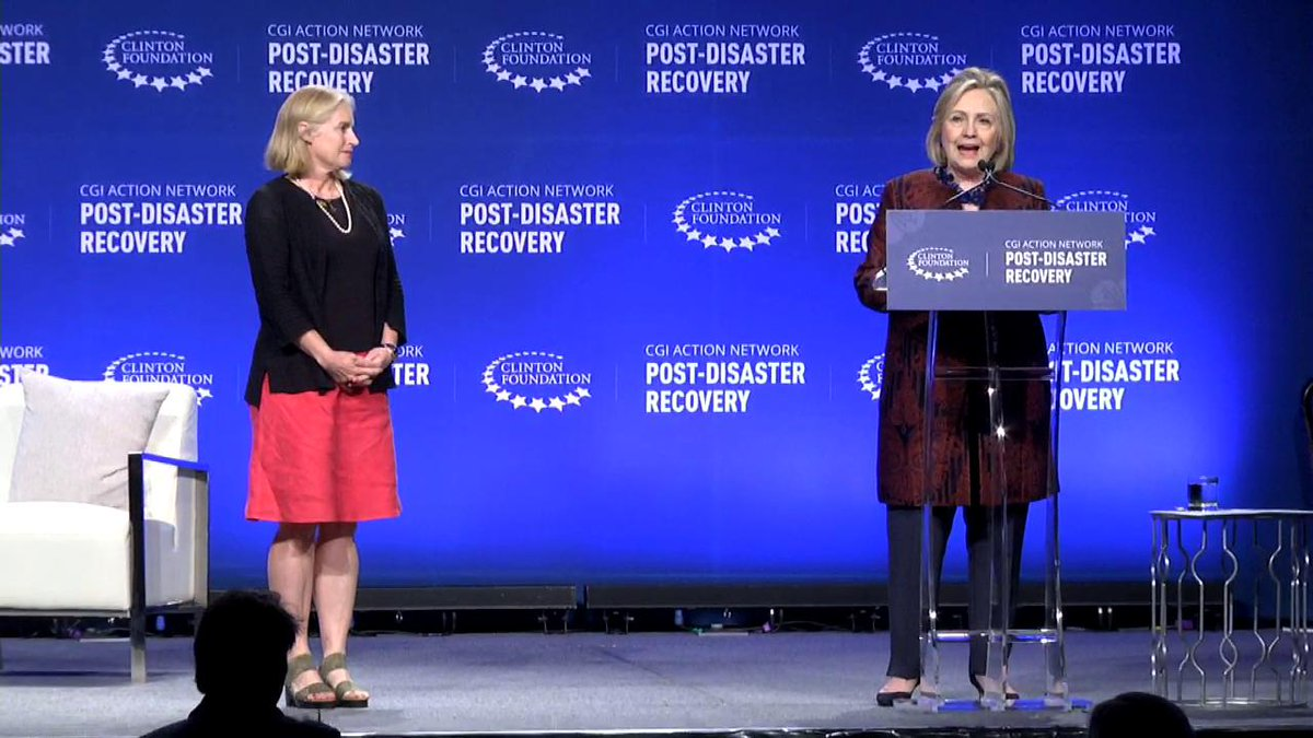 .@HillaryClinton shares how Hands Across the Sea is helping restore school libraries in Dominica. #IdeasIntoAction