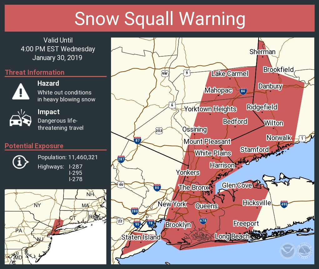 Map Of I 84 New York.Nws New York Ny On Twitter A Snow Squall Warning Continues Until 4