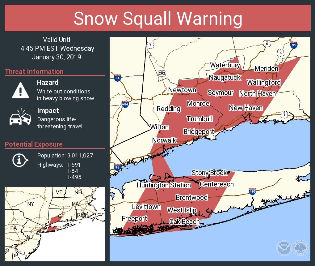 Map Of I 84 New York.Nws New York Ny On Twitter A Snow Squall Warning Is In Effect