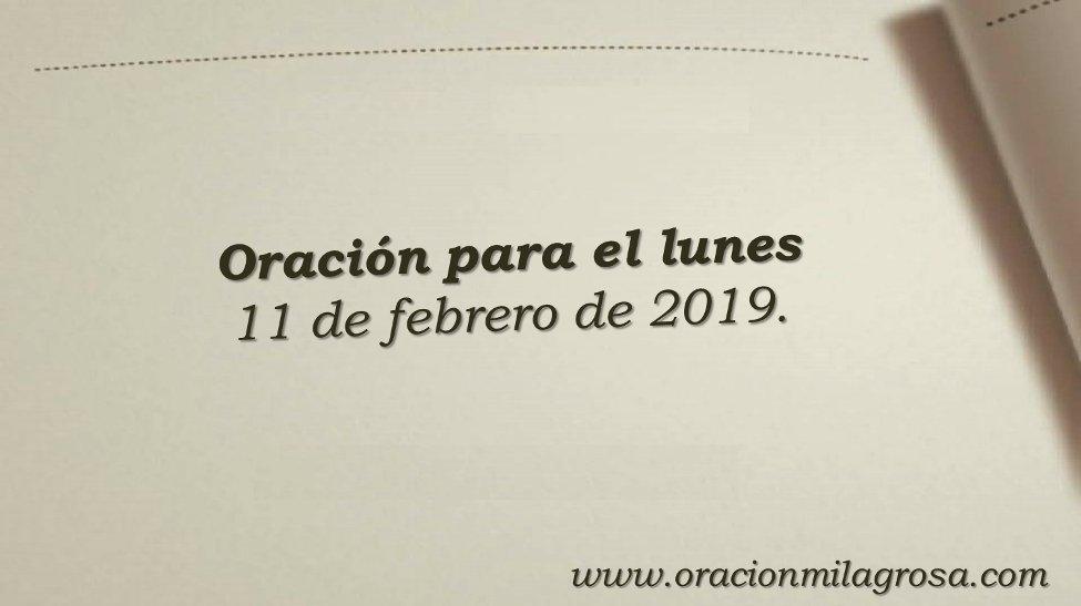 Oración Milagrosa's photo on Lunes 11