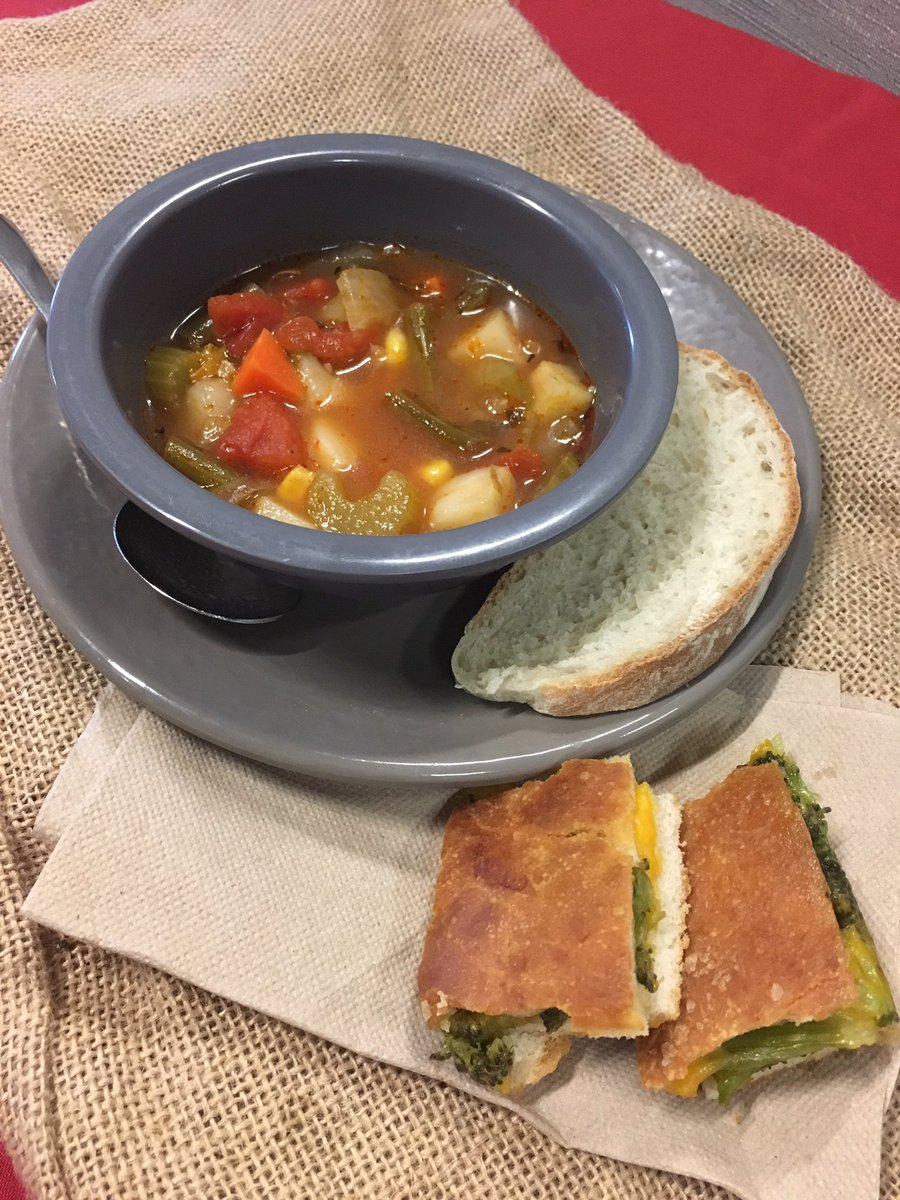Warm up with homemade vegetable soup today at Wagoner!