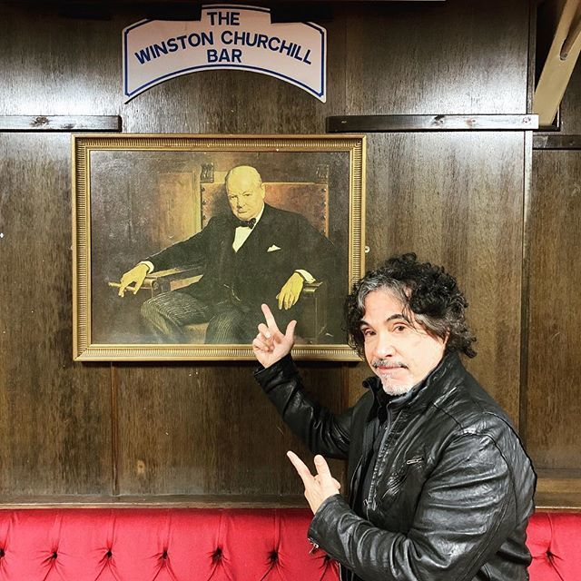 At The Moth ( a working man's pub ) in Hackney, London with our old friendWinston http://bit.ly/2FX8G7L