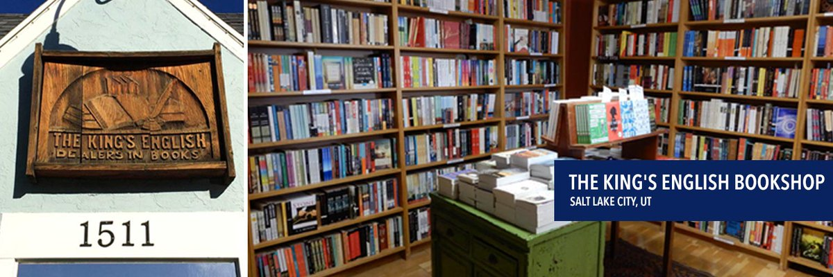 We love independent bookstores! Here's @KingsEnglish in Salt Lake City, UT. Just look at all those glorious books... 😍 RT if this is your local indie!