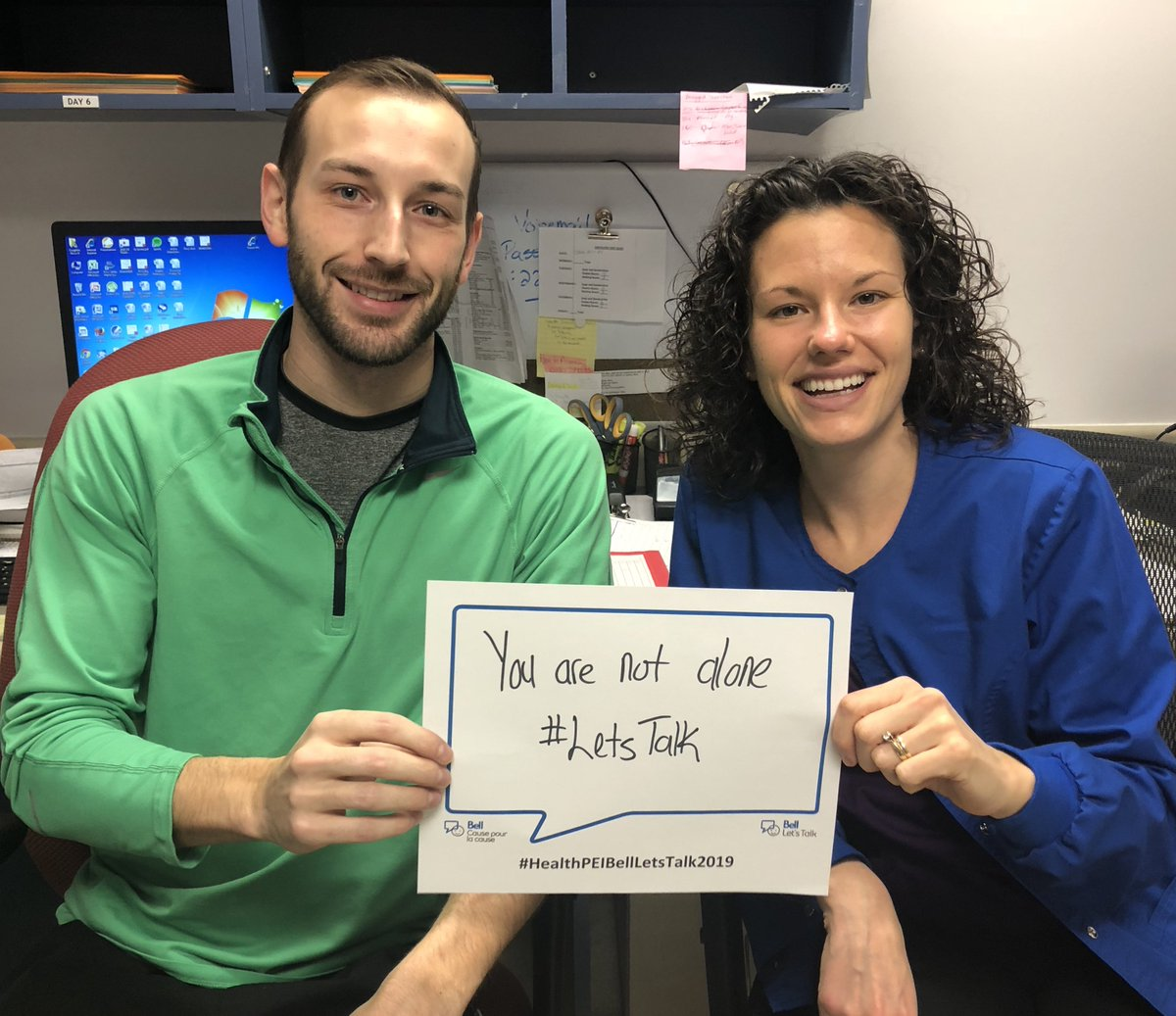 Health PEI staff and health care workers at health facilities across the province share some thoughts for #BellLetsTalk (feel free to tag yourself) http://www.facebook.com/govpe/