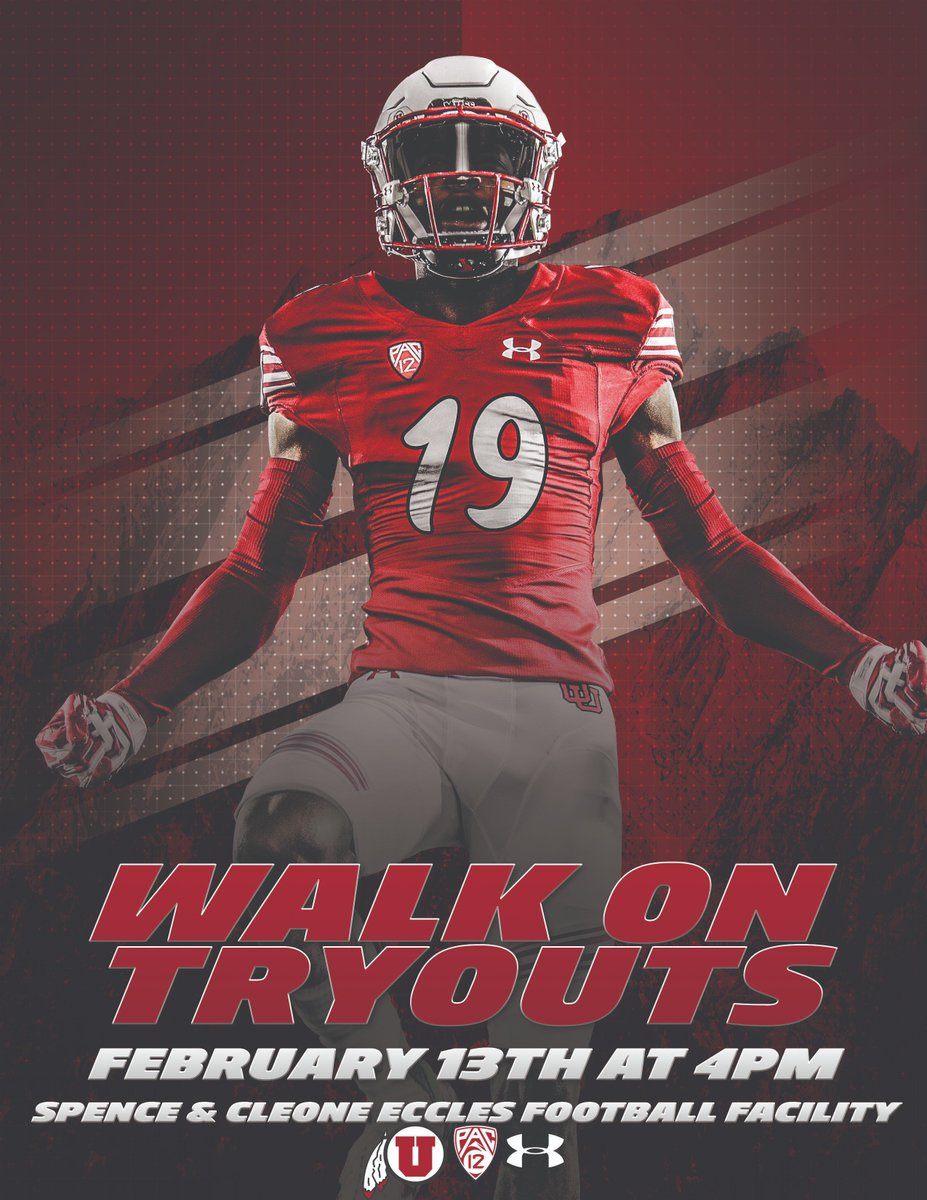 Utah Football On Twitter Walk On Tryouts Are Just Two Weeks Away