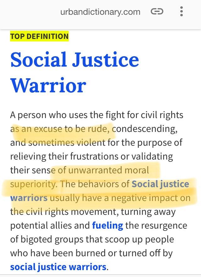 social justice warrior definition