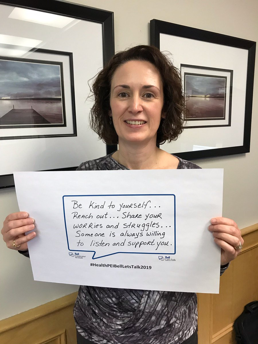 Our job is to work together to support the health, including the  mental health, of patients, residents and clients. As a health care system, as a team, we also need to do this for each other. - Denise Lewis Fleming, CEO, Health PEI #BellLetsTalk2019 #HealthPEIBellLetsTalk2019