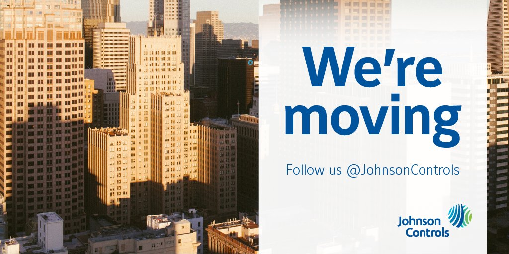Like our updates? Follow us as we move to @JohnsonControls for all the latest news and updates from our experts. https://t.co/CKBaudFyb6 https://t.co/O6qpJ235WM