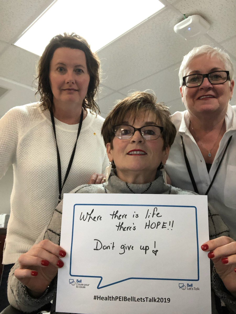 Our CEO administration staff deliver great support. They also know the importance of supporting each other.  #BellLetsTalk2019 #HealthPEIBellLetsTalk2019.