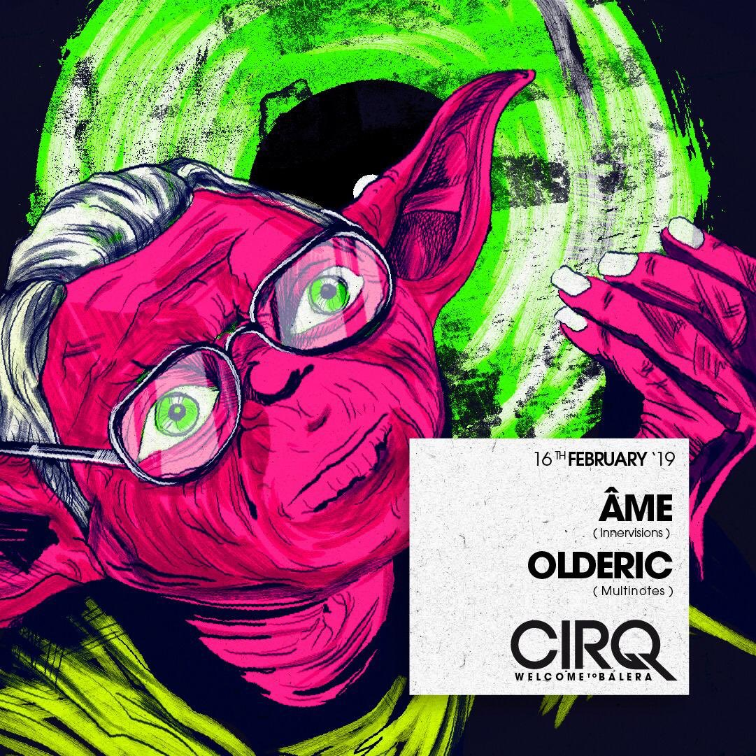 Sat Feb. 16th 2019  CIRQ w/ ÂME + OLDERIC   ----- READY TO EXPLODE!  ----- @ame_innervisions @olderic @cirqclub  #amedj #ameinnervisions #innervisions #cirq #olderic #multinotes #stereocalypse #dancewithq #welcometobalerapic.twitter.com/nTWHcyHB6q – at CirQ Clubbing