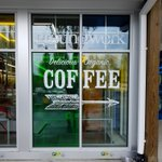 Here's a beautiful window vinyl we made a while back for Groundwork's organic coffee shop. #windowvinyl #customprinting #GroundworkCoffee #PrecisionImages What can we do for you??? How can we help you stand out from the crowd?