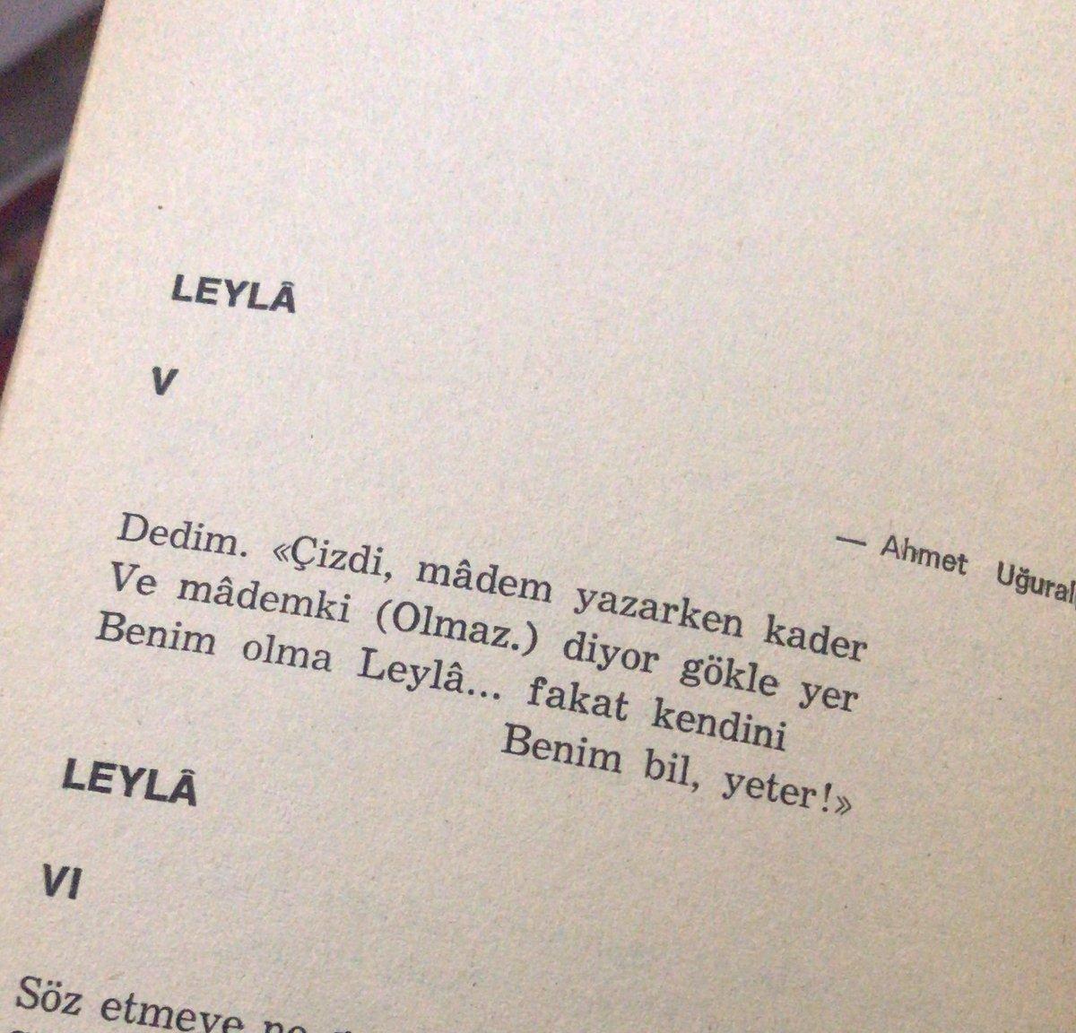 Benim olma Leylâ... fakat kendini                                   Benim bil, yeter!  @ustatasya  #arifnihatasya