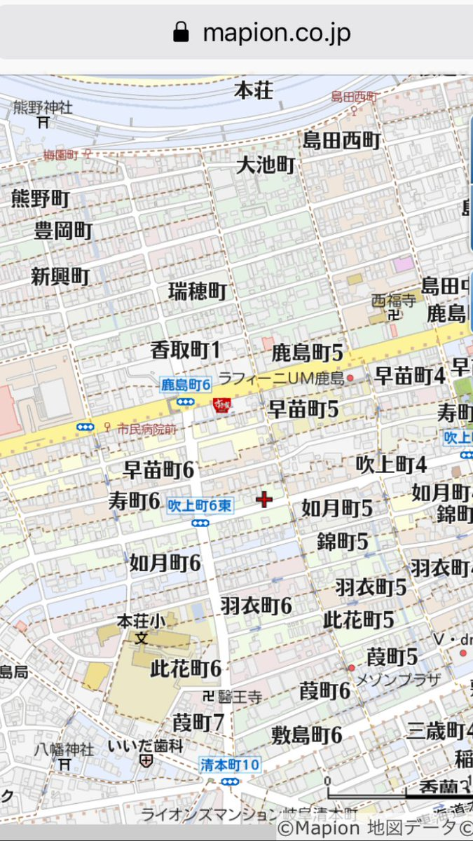 """治田 洗礫 على تويتر: """"架空地図のような地名が並ぶ、岐阜市の近郊 ..."""
