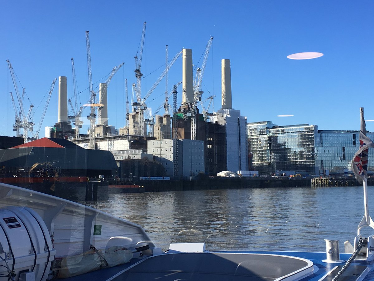 Wonderful views of Battersea Power Station from Thames Clipper #LoveLondon