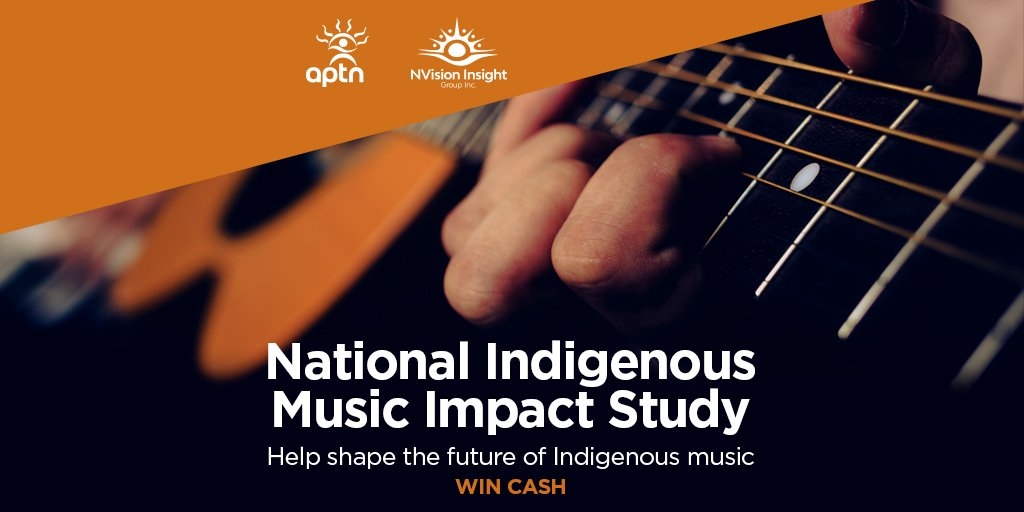 RT @APTN: Participate in our National Indigenous Music Impact Study survey and be entered to win cash! https://corporate.aptn.ca/musicstudy/  #indigenous #music #survey
