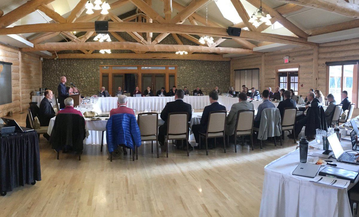 At Midsize Cities Caucus in Cochrane - represents 22 municipalities, population over 15,000 - collectively  around 1million Albertans.  With nearly 35 provincial constituencies, our communities represent 40% of the Alberta Legislative Assembly   #abmidsizedcities #abpoli #abmuni