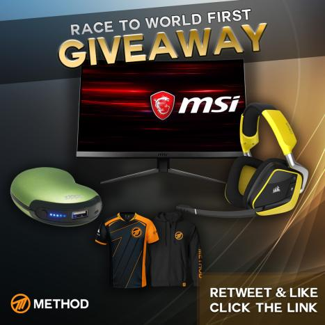 ENTER my #Giveaway for a chance to win:  @msiUSA MAG271C Gaming Monitor @CORSAIR VOID PRO RGB Wireless Gaming Headset @Zippo_Gaming 6-Hour Rechargeable Hand Warmer @methodgg Jersey or Hoodie  1.    RETWEET & LIKE 2.    FOLLOW ME 3.    ENTER: http://method.gg/giveaway/sco