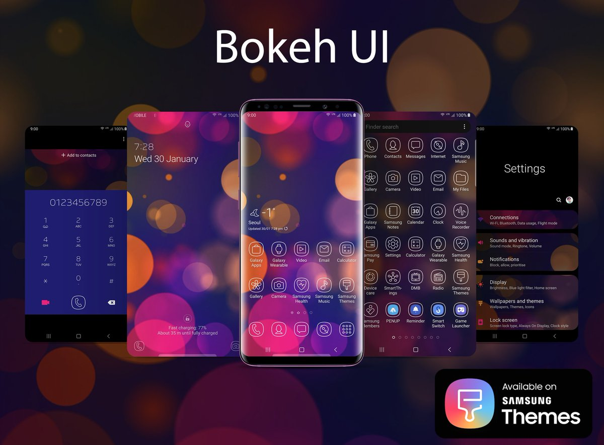 Check out Bokeh UI my new Theme & Iconpack for Samsung Galaxy Tweet