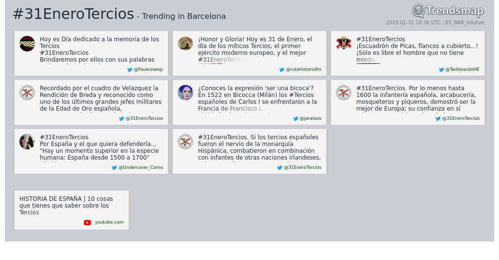 #31enerotercios es ahora una tendencia en #Barcelona  https://www.trendsmap.com/r/ES_BAR_dduhze