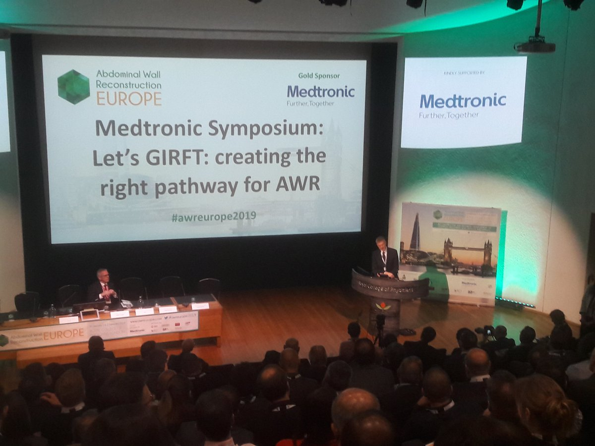 Thank you to @MedtronicUK for a great session on GIRFT by John Abercrombie and @acdebeaux Andrew de Beaux #awreurope2019