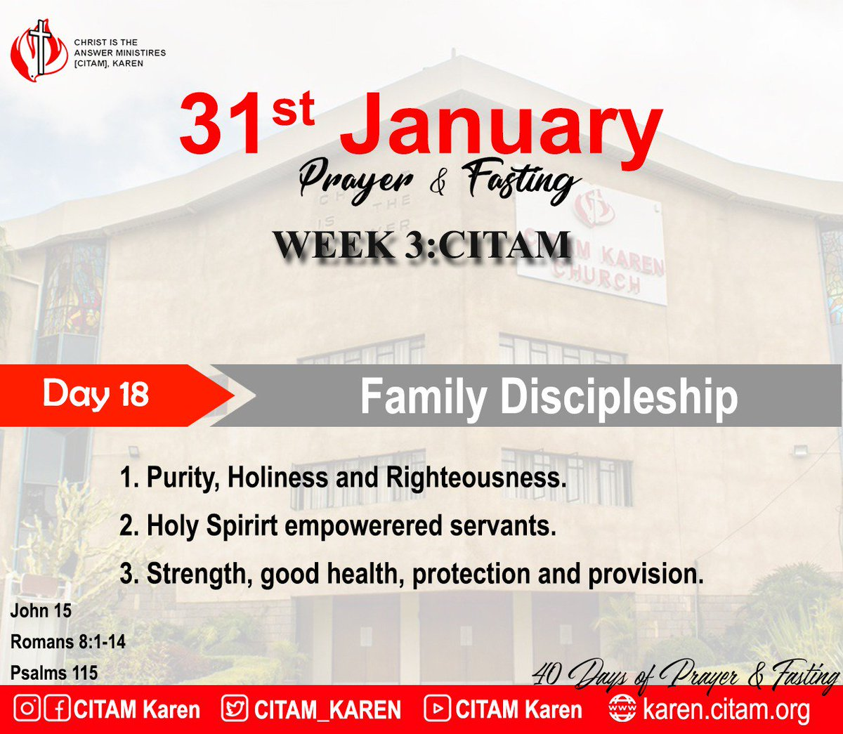 Day 18 of 40 days of prayer and fasting: Pray for family