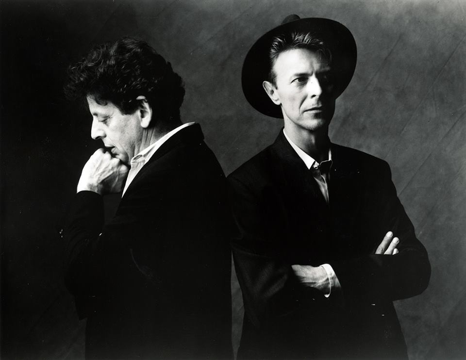 David Bowie and Philip Glass photographed in 1993 upon the release of the Low Symphony (Happy Birthday Master)