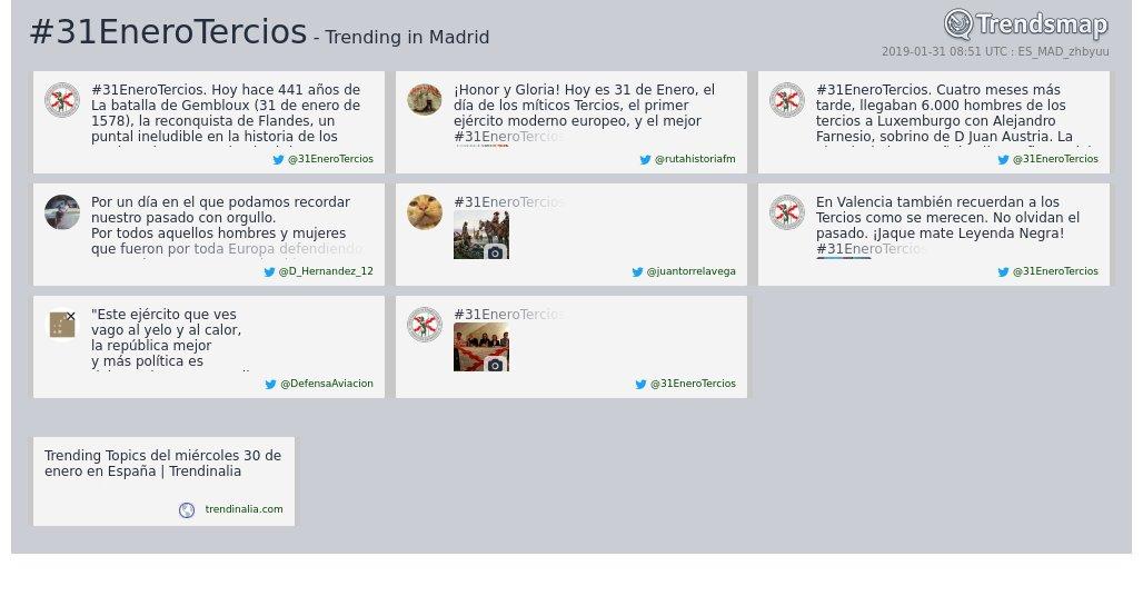#31enerotercios es ahora una tendencia en #Madrid  https://www.trendsmap.com/r/ES_MAD_zhbyuu