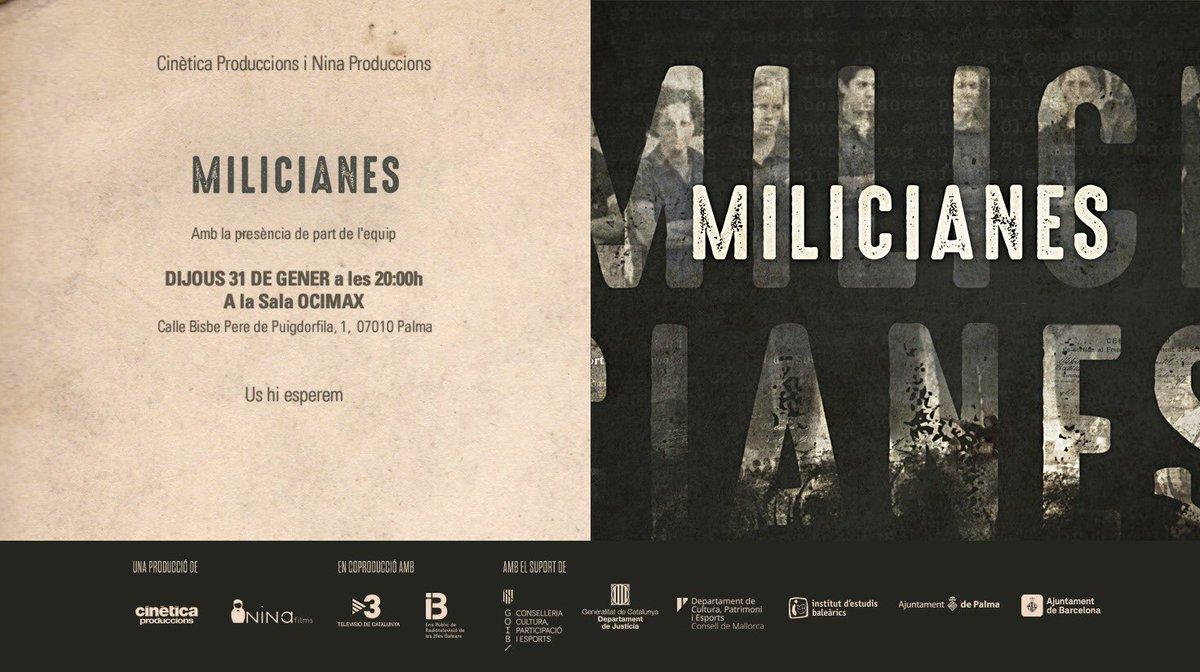 Avui als Ocimax Milicianes a les 20h amb presència del director @jaqme @cinetica_tv @IB3televisio @Cineastesib