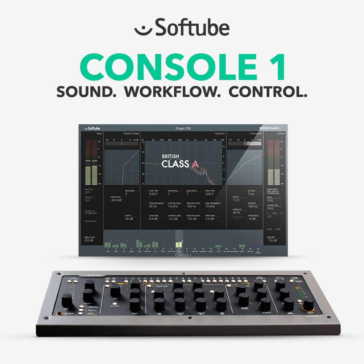 Soak your tracks in classic British sound. British Class A add-on now FREE when you buy Softube Console 1.  Shop Now |-- https://bit.ly/2VZQ4ZM  --| #softube #console1 #studio #audiogear @SoftubeStudios