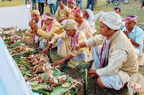 Today on 31st January, Tai Ahom community people of Assam celebrated Me-dam-me-phi in memory of the departed ancestors and remembering their contribution to society.    #MeDamMePhi. #Tai #Ahom #Assam #awesomeassam