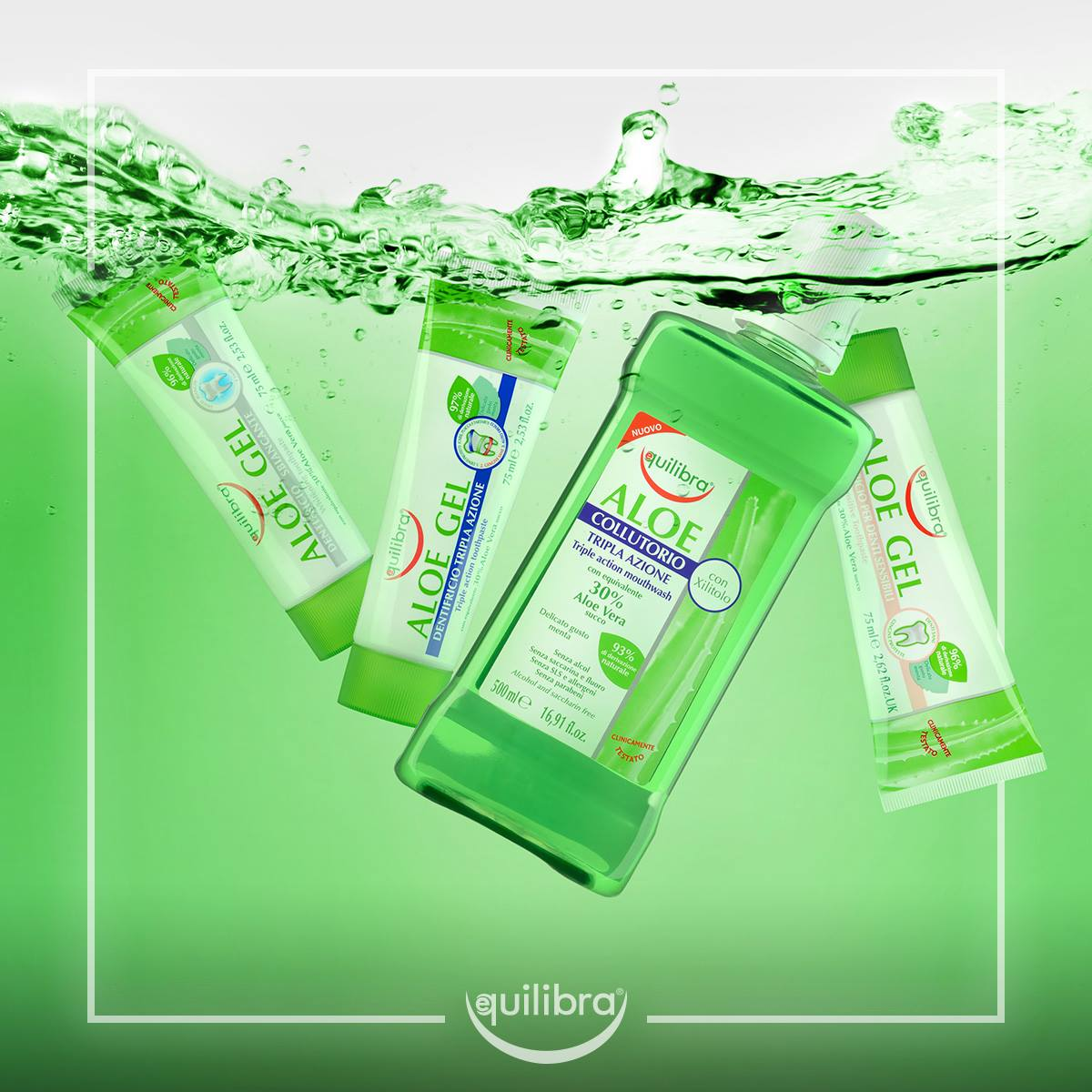 #Equilibra #Oral Care line is based on 100% pure #Aloe Vera, with #natural active ingredients. All products of this line have been clinically tested and have a gentle mint taste and are allergen free. #equilibrapeople #equilibraqatar #doha #qatar #teeth #smile