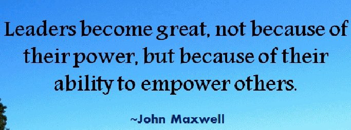Who will you empower today? Your answer matters.