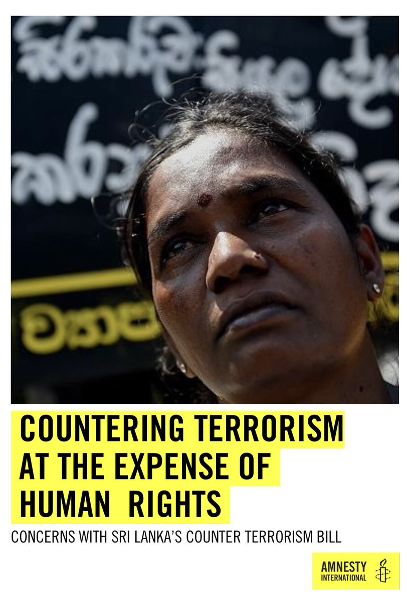 SRI LANKA: Countering Terrorism At The Expense Of Human Rights: Concerns With Sri Lanka's Counter Terrorism Bill