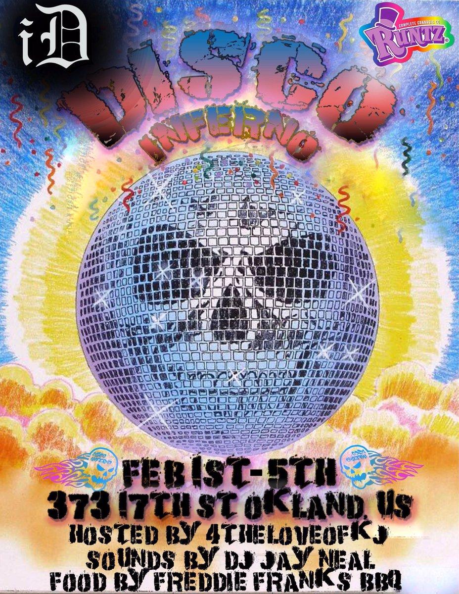 Disco Runtz Pop up February 1st - 5th In Oakland,CA. 📍