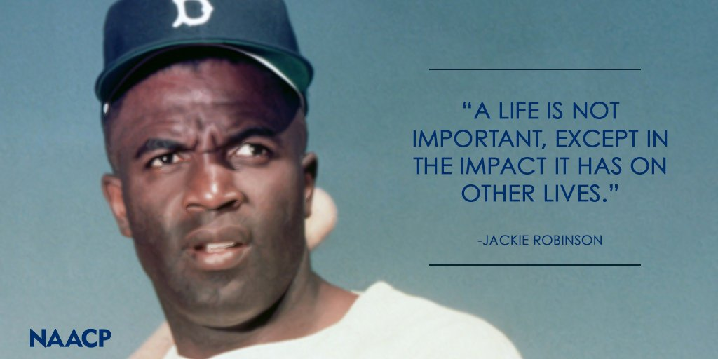 Today Marks The 100th Birthday Of Baseball Legend Jackie Robinson He Became A Living Milestone For Racial Equality And Changed Sport