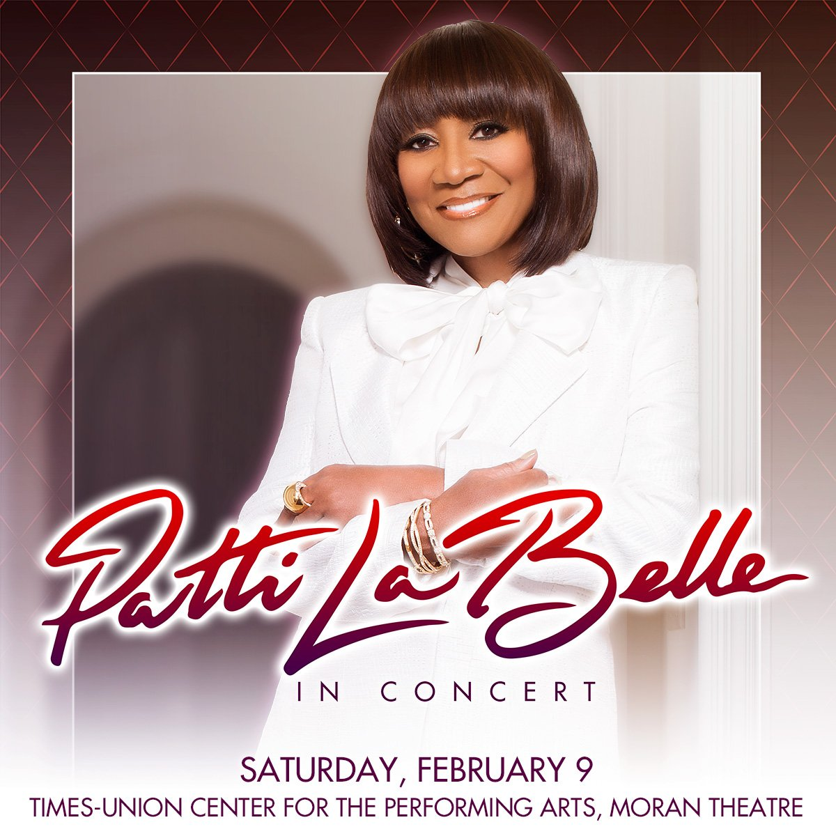 #Jacksonville! It's almost time for the legendary Patti LaBelle (@MsPattiPatti) at Times-Union Center for the Performing Arts, Moran Theatre (@jaxevents). Get your tickets for Next Saturday 2/9 today! https://bit.ly/2G0Terh