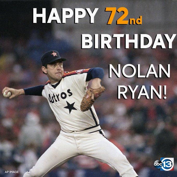 Happy bday to the legend, Nolan Ryan