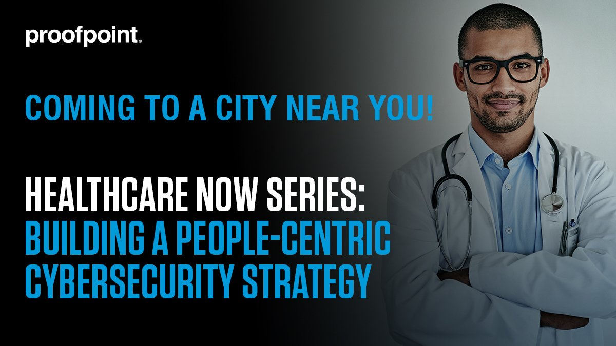 Coming to a City Near You – Join us at the @Proofpoint #Healthcare Now Series: Building a People-Centric Cybersecurity Strategy where attendees will learn how to protect their institution's greatest assets– its people and the data that they have access to. https://go.proofpoint.com/HealthcareNowSeries.html?rbn=social…