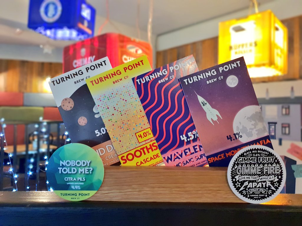All the @TurningPointbco brews on the bar tonight for @tryanuary    4 Casks 2 Kegs 3 Cans  #turningpoint #cask #keg #can #Tryanuary #headingley #beer  #paleale #pils #milkstout #imperialstout #ipa #fruitipa #veganbeer<br>http://pic.twitter.com/ysn1vDMsSk &ndash; à Arcadia