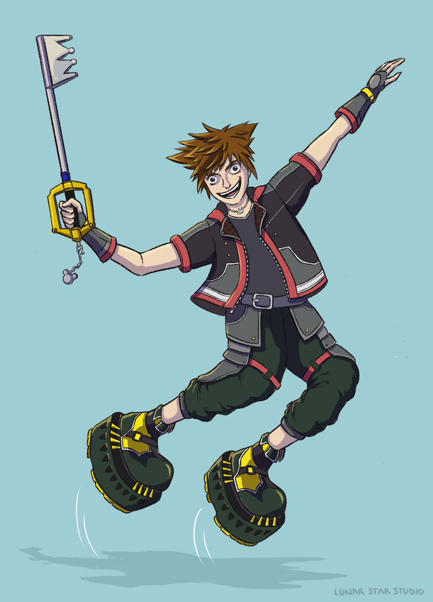 Hope y'all are enjoying your game! I swear to god I know nothing about Kingdom Hearts, but I'm 97.9% sure this kid wears moonshoes. #kingdomhearts #KingdomHearts3 #KH3 #sora #moonshoes