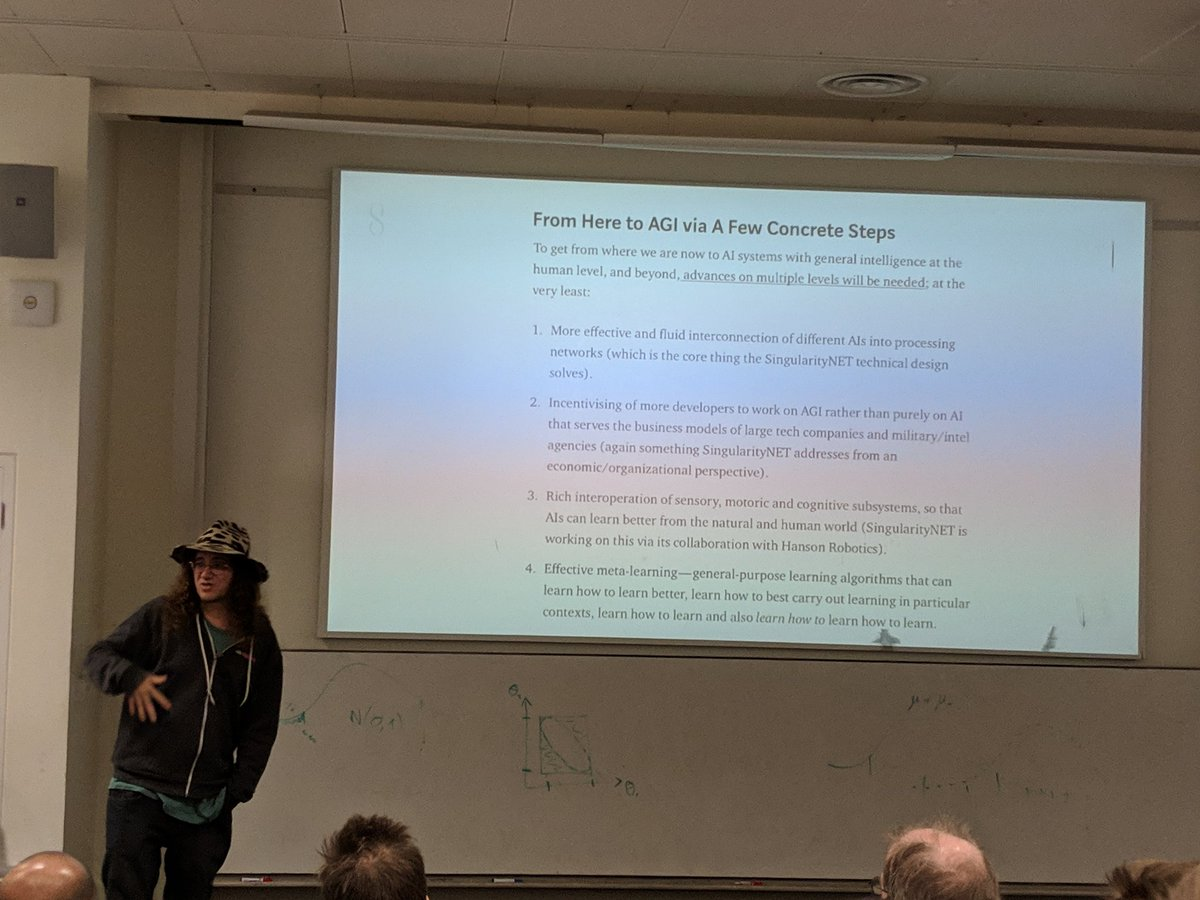Concrete steps between todays AI and AGI (Artificial General Intelligence) - @BenGoertzel sets out his thoughts at #SNETImperial