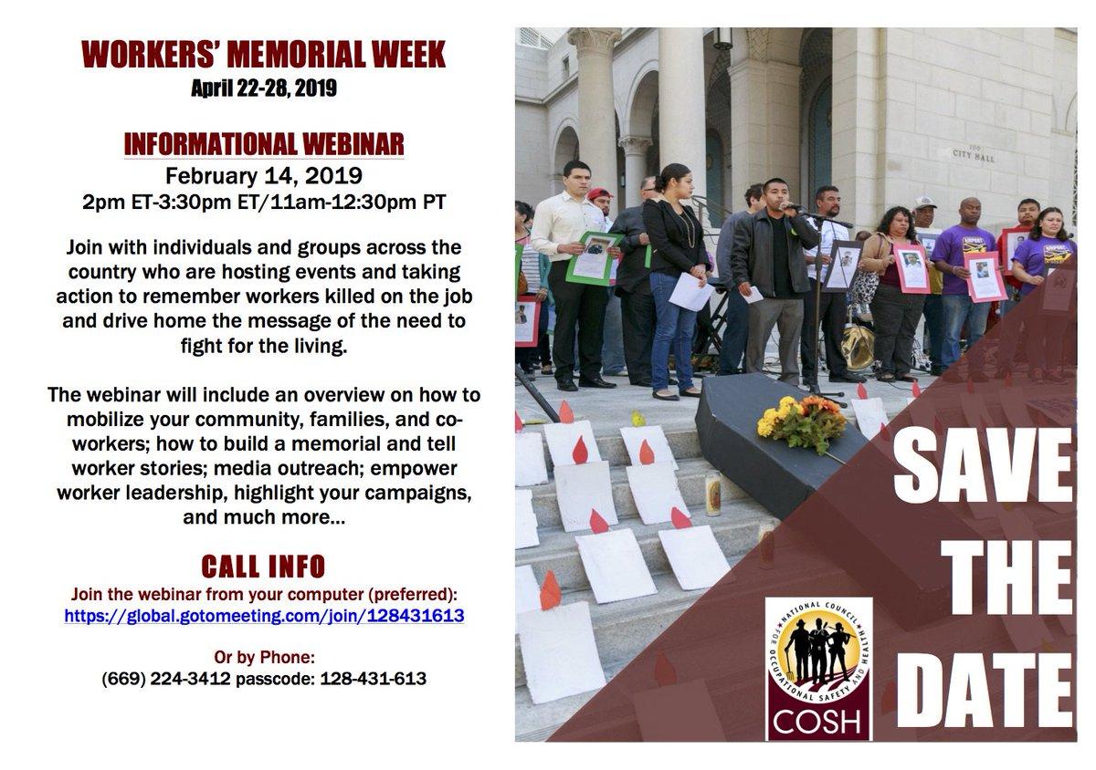 Usa Informational Webinar For Workers Memorial Week February