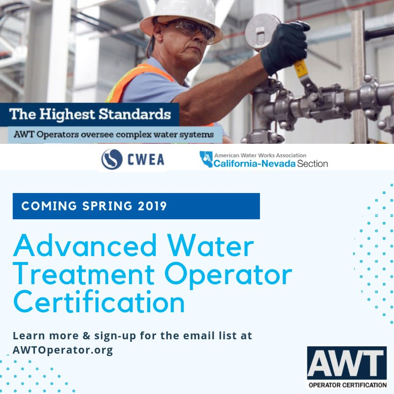 Ca Nv Awwa On Twitter What Are The Minimum Qualifications To Take