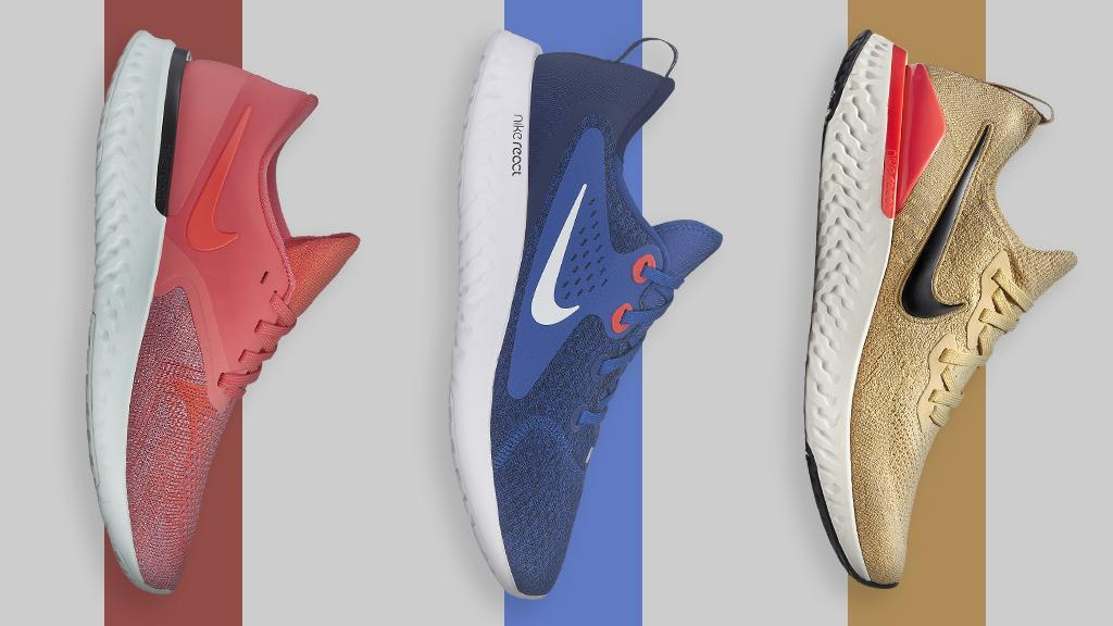 sale retailer 12bfa 69b8e The nike react series is back and better than ever in fresh bright colors!  choose between the epic react flyknit 2, odyssey react 2, or the legend  react. ...